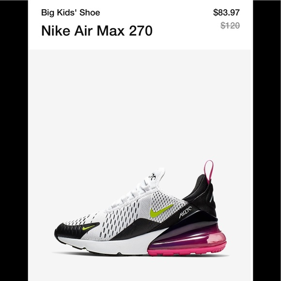 wholesale dealer 1739c 9eaac MAJOR ISO NEW NIKE AIR MAX 270 BIG KIDS SIZE 4/4.5 NWT